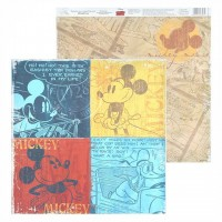 "Бумага для скрапбукинга  Old's cool ""Mickey"" 29,5х29,5 см"