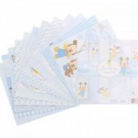 """Набор бумаги для скрапбукинга """"Любимый сыночек"""" Микки Маус, Дисней Беби 14,5 х14,5см"""