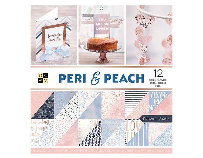 1/2 набора бумаги Peri & Peach с фольгированием от DCWV