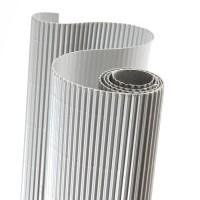 Картон гофрированный 50х70см серебро