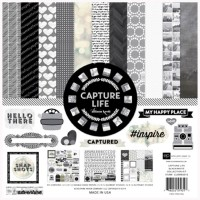 "Набор бумаги EP ""Black & White"" 30х30см 12 листов 2 листа стикеров"