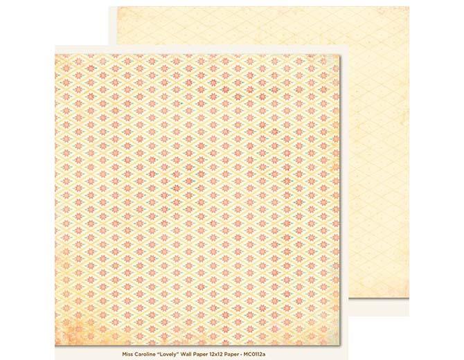 """Бумага двусторонняя Lovely Wall Paper """"Miss Caroline""""  30,5х30,5"""