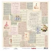 "Бумага односторонняя для скрапбукинга  ""Джульетта"" Музыка 30,5х30,5 см"