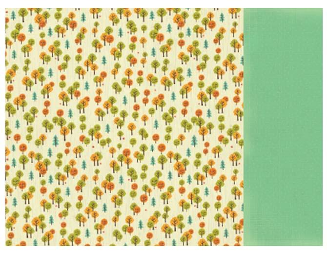 """Бумага двусторонняя Cedar """"Tiny Woods"""" 30,5x30,5 см"""