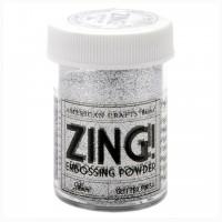 Пудра для эмбоссинга ZING! Silver glitter