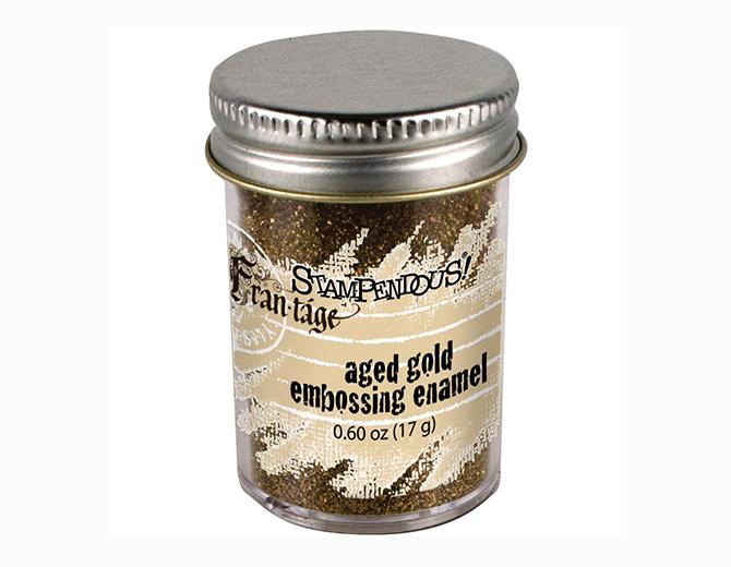 Пудра-эмаль для эмбоссинга Stampendous! цвет Aged gold
