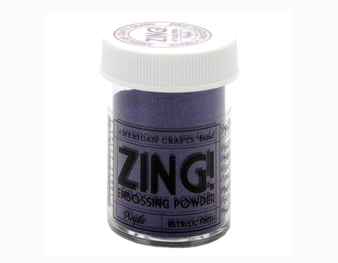Пудра для эмбоссинга ZING! Purple metallic