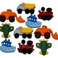 Набор декоративных пуговиц Игрушки для мальчика