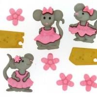 Набор декоративных пуговиц Мышата