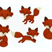 Набор декоративных пуговиц Лисы