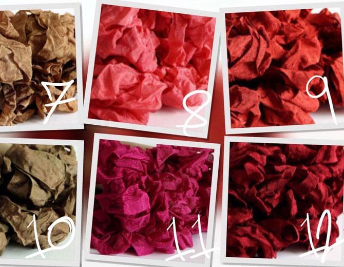 Шебби-лента (бордовый)