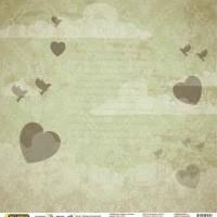 "Бумага односторонняя ""На крыльях любви"" 30,5 х 30,5"
