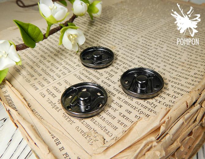 Кнопка пришивная 2,5 см(темный никель)