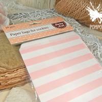 Бумажные пакеты Полоски розовые