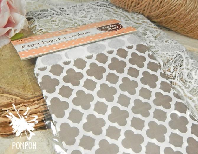 Бумажные пакеты Арабески серые