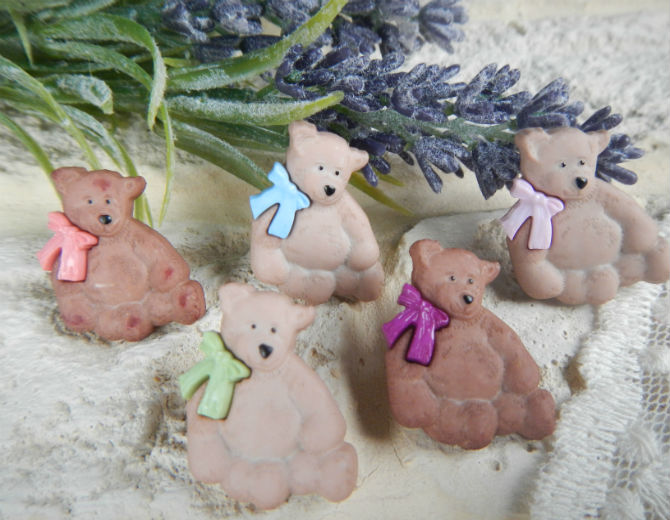 Набор декоративных пуговиц Тедди
