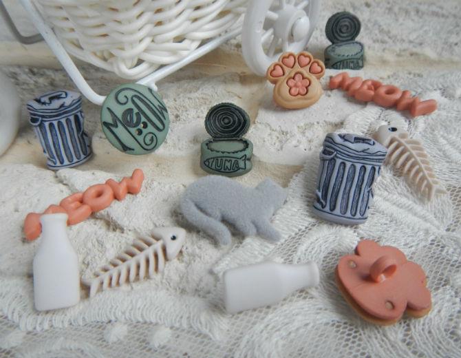 Набор декоративных пуговиц МЯУ
