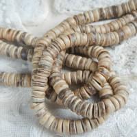 Бусины-рондели из кокоса 30 шт