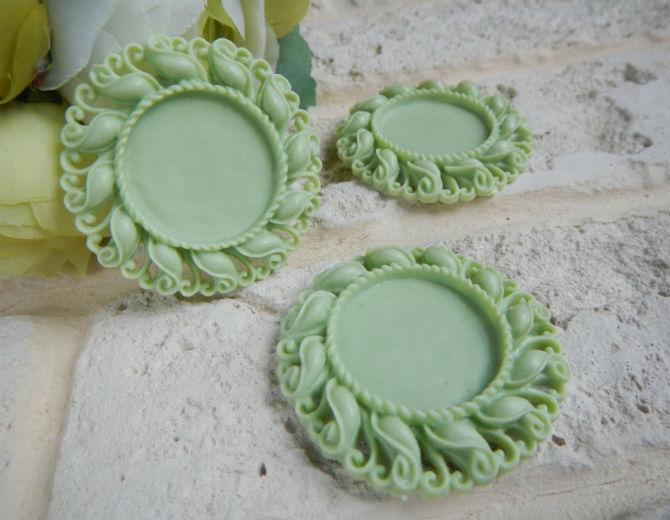 Рамка-сеттинг для кабошона (зеленая)