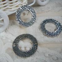 Коннектор Кольцо с надписями серебро