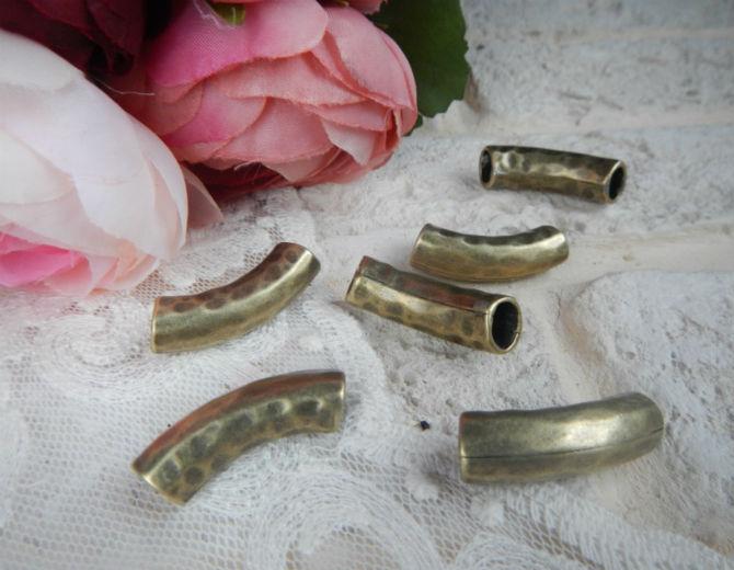 Бусина трубочка металлическая