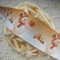 Лента репсовая Снеговик с подарком