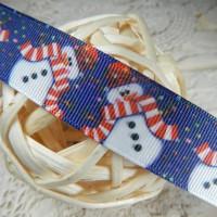 Лента репсовая Снеговик