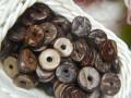 Бусины-колечки из кокоса 5 шт