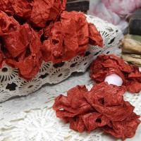 Шебби-лента (кирпично-красный)