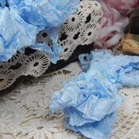 Шебби-лента (небесно-голубой)