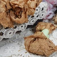 Шебби-лента (горчица)