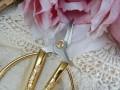 Ножницы с золотыми ручками