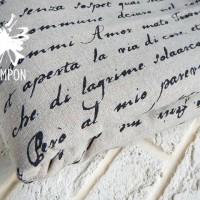 "Ткань лён ""Любовное письмо"""
