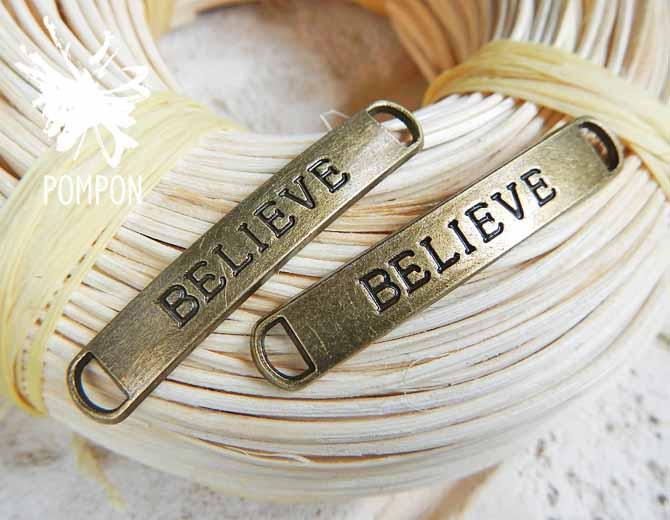 """Коннектор для браслета """"Believe"""""""