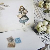 """Набор открыток и конвертов """"Алиса в стране чудес"""""""