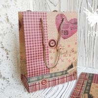 Пакет-крафт с рисунком