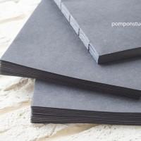 Блоки для блокнотов А5 черный ручной работы