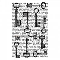 Штамп резиновый Keys от Artemio