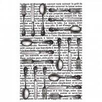 Штамп резиновый Cutlery от Artemio
