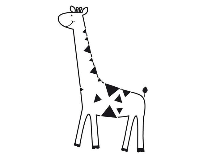 Штамп силиконовый Giraffe 6х8 см
