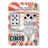 """Набор штампов """"Старый цирк. Карты"""" 10,5х10,5 см"""
