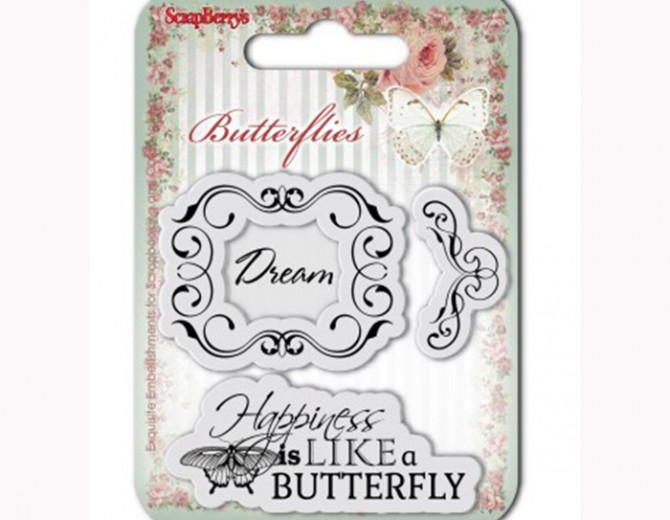 """Набор штампов """"Бабочки 2"""" 7х7см"""