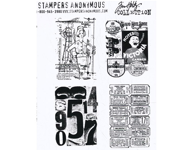 """Набор штампов Tim Holtz Stamp Collection """"Classic Collages"""""""