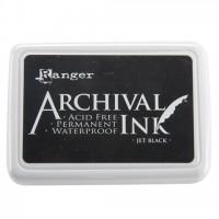 Подушечка штемпельная архивная Archival Ink Pads Jet Black от Ranger