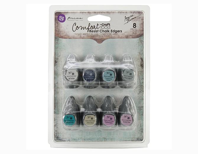 Набор мелковых подушечек Resist Chalk Edgers от Prima Marketing