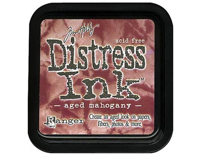Штемпельная подушечка Tim Holtz Distress, 5х5 см, цвет старое красное дерево
