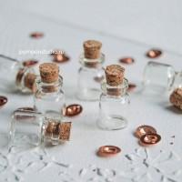 Бутылочки стеклянные 13х18х6мм (6 шт)