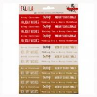 Стикеры Fa La La Phrase Stickers W/Gold Foil от  Crate Paper