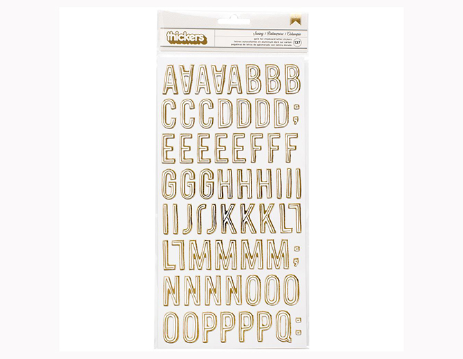 Стикеры Swing Alphabet Carousel Stickers от Maggie Holmes