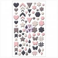 Эмалевые дотсы Rose Quartz Enamel Shapes от Prima